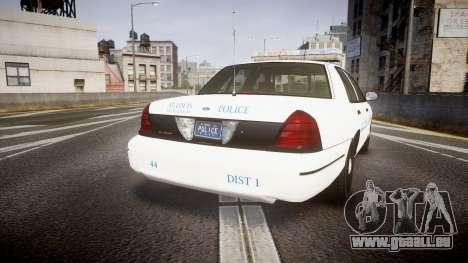 Ford Crown Victoria Metropolitan Police [ELS] pour GTA 4 Vue arrière de la gauche