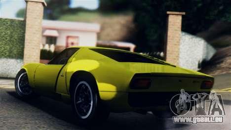 Lamborghini Miura P400 1967 für GTA San Andreas linke Ansicht