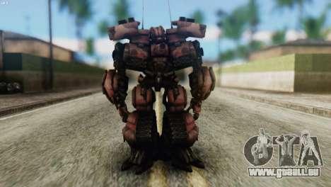 Watpath Skin from Transformers pour GTA San Andreas deuxième écran