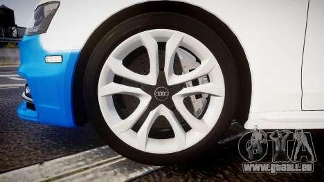 Audi S4 Avant Belgian Police [ELS] pour GTA 4 est une vue de l'intérieur