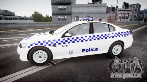 Holden Commodore Omega NSWPF [ELS] für GTA 4 linke Ansicht
