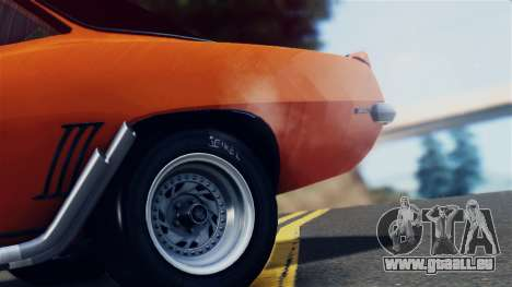 Chevrolet Camaro SS Dragster pour GTA San Andreas vue intérieure