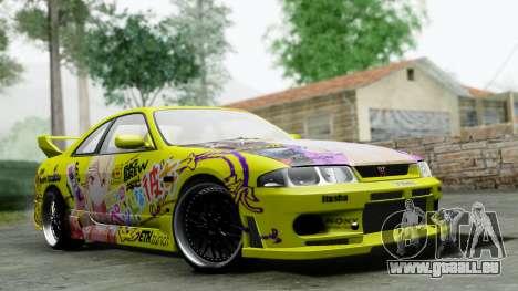 Nissan Skyline R33 Shiina Mashiro Itasha pour GTA San Andreas