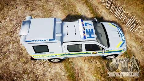 Toyota Hilux 2010 South African Police [ELS] für GTA 4 rechte Ansicht