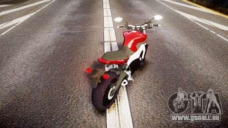 Yamaha MT-09 pour GTA 4 Vue arrière de la gauche