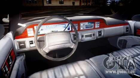 Chevrolet Caprice Liberty Police v2 [ELS] für GTA 4 Rückansicht
