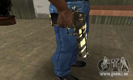 Gold Lines Deagle für GTA San Andreas