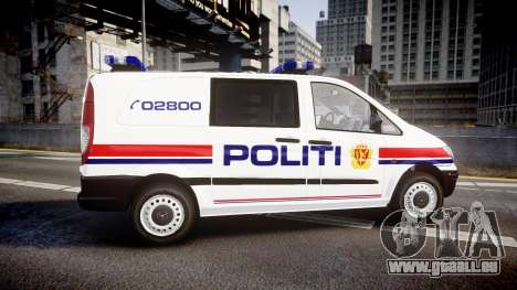 Mercedes-Benz Vito 2014 Norwegian Police [ELS] für GTA 4 linke Ansicht