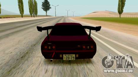 Nissan Skyline R32 pour GTA San Andreas vue de droite
