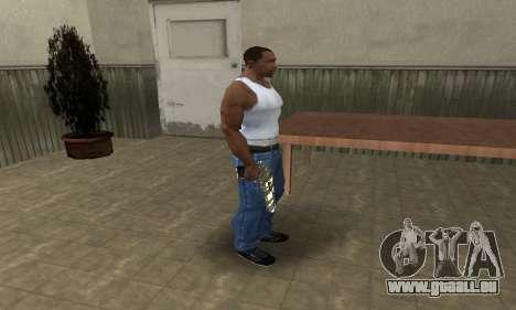Gold Lines Deagle pour GTA San Andreas troisième écran