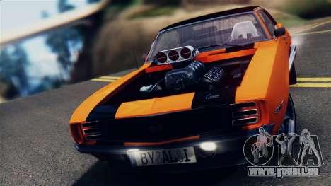 Chevrolet Camaro SS Dragster für GTA San Andreas zurück linke Ansicht