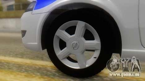 Nissan Almera Iraqi Police pour GTA San Andreas sur la vue arrière gauche