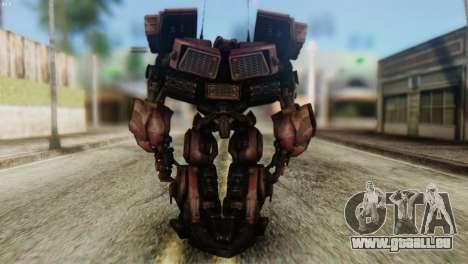 Watpath Skin from Transformers pour GTA San Andreas troisième écran