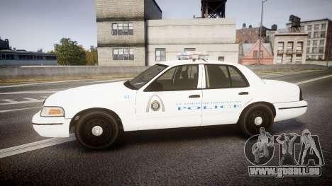 Ford Crown Victoria Metropolitan Police [ELS] pour GTA 4 est une gauche