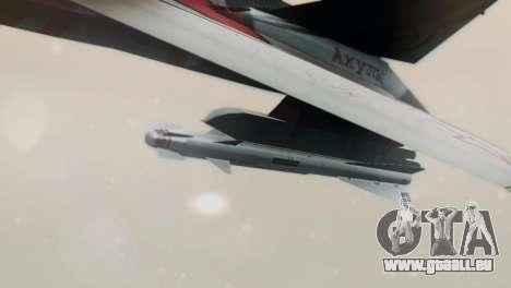 T-50 PAK-FA -Akula- für GTA San Andreas zurück linke Ansicht