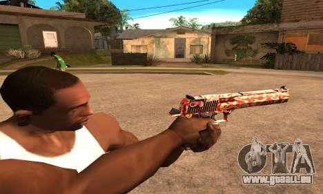 Red Splash Deagle pour GTA San Andreas deuxième écran