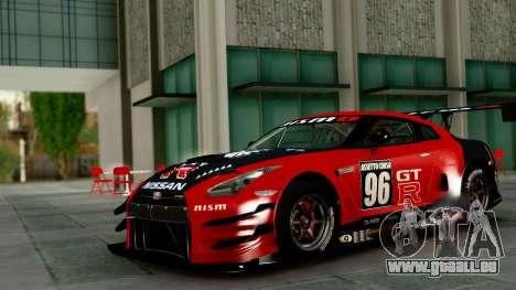 Nissan GT-R (R35) GT3 2012 PJ1 pour GTA San Andreas vue de côté
