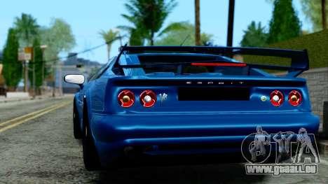 Lotus Esprit S4 V8 1998 Police Edition pour GTA San Andreas laissé vue