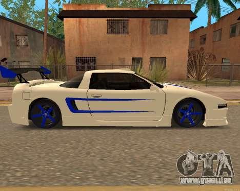 Infernus De La Peau pour GTA San Andreas sur la vue arrière gauche