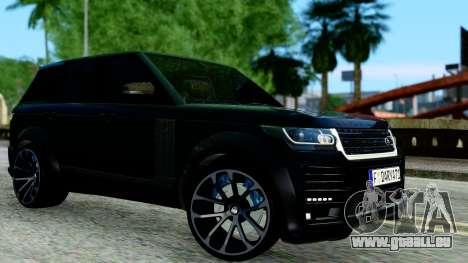 Range Rover Vogue Lumma Stratech pour GTA San Andreas laissé vue