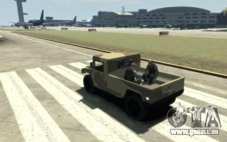 GTA 5 Millitary Patriot für GTA 4 Rückansicht