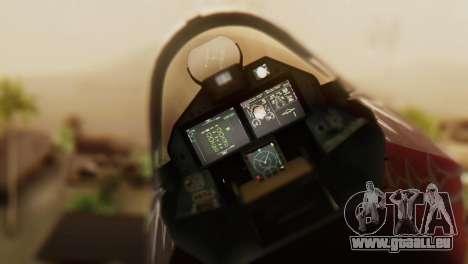 T-50 PAK-FA -Akula- pour GTA San Andreas vue arrière
