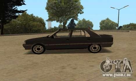 Renault 9 TSE 1992 für GTA San Andreas zurück linke Ansicht