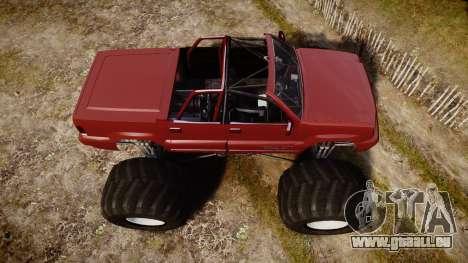 Albany Cavalcade FXT Cabrio Monster Truck für GTA 4 rechte Ansicht