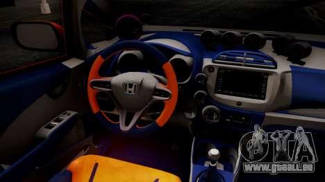 Honda Fit Street Modify Inori Yuzuriha Itasha für GTA San Andreas rechten Ansicht