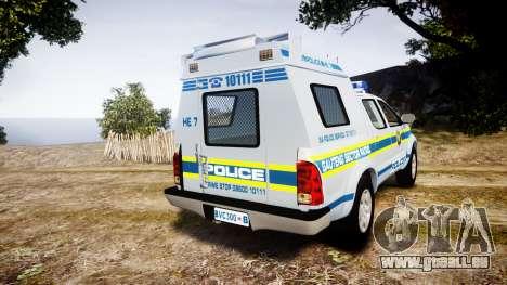 Toyota Hilux 2010 South African Police [ELS] für GTA 4 hinten links Ansicht