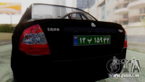 SAIPA Tiba Police v1 für GTA San Andreas Rückansicht