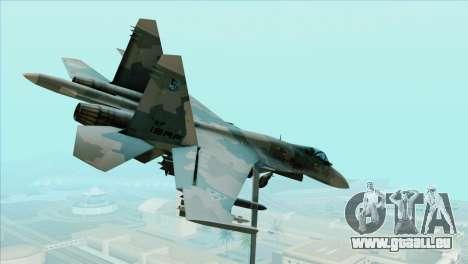 Sukhoi SU-35BM Mobius Squadron für GTA San Andreas linke Ansicht