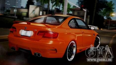 BMW M3 E92 Hamman pour GTA San Andreas laissé vue