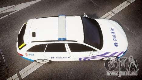 Audi S4 Avant Belgian Police [ELS] für GTA 4 Rückansicht