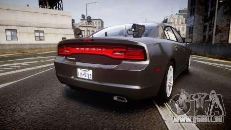 Dodge Charger Traffic Patrol Unit [ELS] rbl für GTA 4 hinten links Ansicht