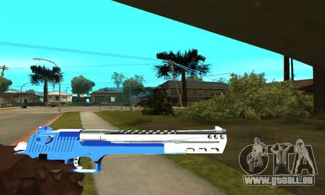 Blue Cool Deagle pour GTA San Andreas troisième écran
