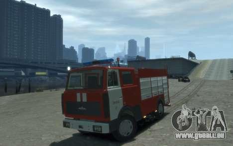 MAZ 533702 Feuer Lipezk für GTA 4