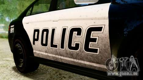 GTA 5 Vapid Police Interceptor v2 IVF pour GTA San Andreas vue de droite
