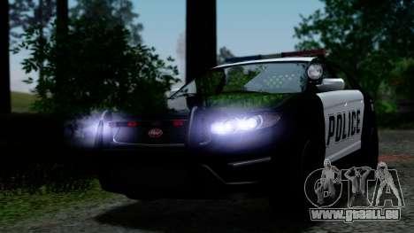 GTA 5 Vapid Police Interceptor v2 IVF pour GTA San Andreas vue de dessus
