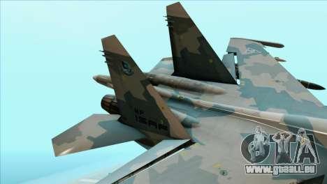 Sukhoi SU-35BM Mobius Squadron pour GTA San Andreas sur la vue arrière gauche