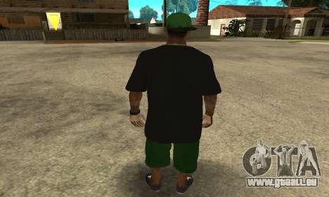 Groove St. Nigga Skin The Third pour GTA San Andreas troisième écran