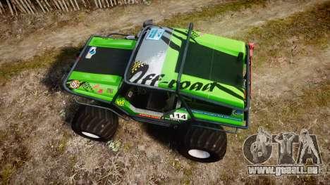 Tiger 4x4 für GTA 4 rechte Ansicht