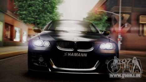 BMW M3 E92 Hamman pour GTA San Andreas vue intérieure