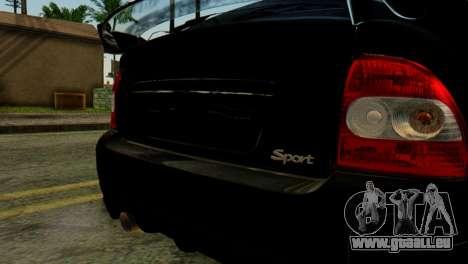 VAZ 2172 Coupé pour GTA San Andreas vue arrière
