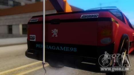 Peugeot 206 TowTruck pour GTA San Andreas vue arrière