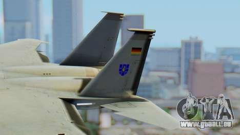 F-15C Eagle Luftwaffe JG 73 pour GTA San Andreas sur la vue arrière gauche