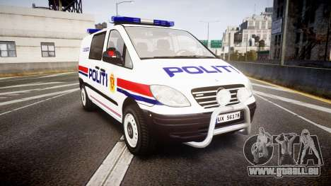 Mercedes-Benz Vito 2014 Norwegian Police [ELS] für GTA 4