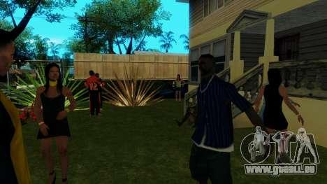 Party in Jefferson für GTA San Andreas her Screenshot