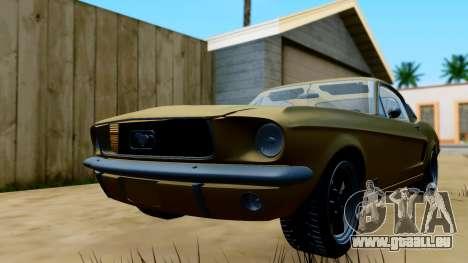 Shelby Mustang GT 1967 pour GTA San Andreas sur la vue arrière gauche