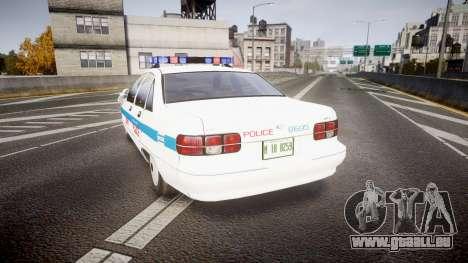 Chevrolet Caprice Liberty Police v2 [ELS] für GTA 4 hinten links Ansicht